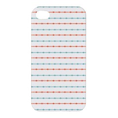 Line Polka Dots Blue Red Sexy Apple Iphone 4/4s Hardshell Case