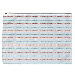 Line Polka Dots Blue Red Sexy Cosmetic Bag (xxl)