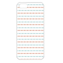 Line Polka Dots Blue Red Sexy Apple Iphone 5 Seamless Case (white)