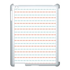 Line Polka Dots Blue Red Sexy Apple Ipad 3/4 Case (white)