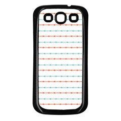 Line Polka Dots Blue Red Sexy Samsung Galaxy S3 Back Case (black)