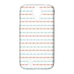 Line Polka Dots Blue Red Sexy Samsung Galaxy S4 Classic Hardshell Case (pc+silicone)
