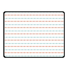 Line Polka Dots Blue Red Sexy Double Sided Fleece Blanket (small)