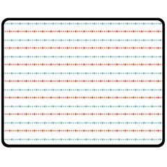 Line Polka Dots Blue Red Sexy Double Sided Fleece Blanket (medium)