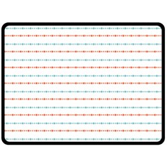 Line Polka Dots Blue Red Sexy Double Sided Fleece Blanket (large)