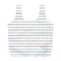 Line Polka Dots Blue Red Sexy Full Print Recycle Bags (l)
