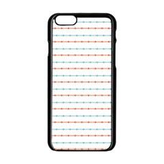 Line Polka Dots Blue Red Sexy Apple Iphone 6/6s Black Enamel Case