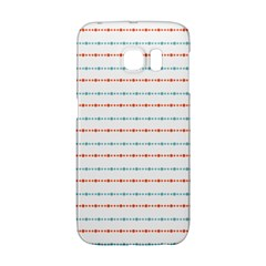 Line Polka Dots Blue Red Sexy Galaxy S6 Edge