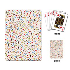 Flower Star Rose Sunflower Rainbow Smal Playing Card