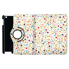 Flower Star Rose Sunflower Rainbow Smal Apple Ipad 2 Flip 360 Case