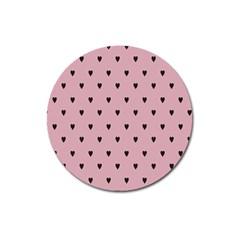 Love Black Pink Valentine Magnet 3  (round)