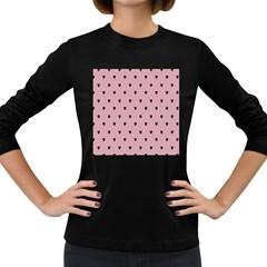 Love Black Pink Valentine Women s Long Sleeve Dark T Shirts