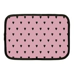 Love Black Pink Valentine Netbook Case (medium)