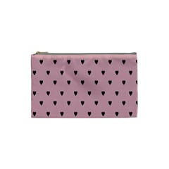 Love Black Pink Valentine Cosmetic Bag (small)