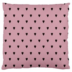 Love Black Pink Valentine Large Flano Cushion Case (two Sides)