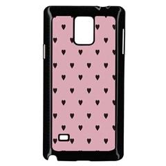 Love Black Pink Valentine Samsung Galaxy Note 4 Case (black)