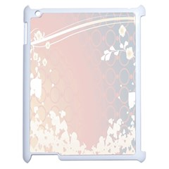 Love Heart Flower Purple Sexy Rose Apple Ipad 2 Case (white)
