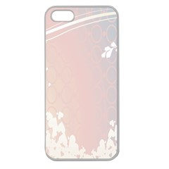 Love Heart Flower Purple Sexy Rose Apple Seamless Iphone 5 Case (clear)