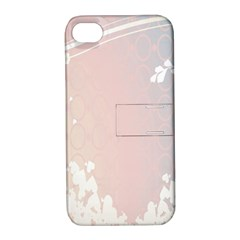 Love Heart Flower Purple Sexy Rose Apple Iphone 4/4s Hardshell Case With Stand