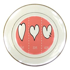 Love Heart Valentine Pink White Sexy Porcelain Plates