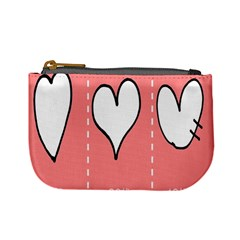 Love Heart Valentine Pink White Sexy Mini Coin Purses
