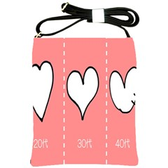 Love Heart Valentine Pink White Sexy Shoulder Sling Bags
