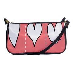 Love Heart Valentine Pink White Sexy Shoulder Clutch Bags