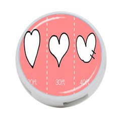 Love Heart Valentine Pink White Sexy 4 Port Usb Hub (one Side)
