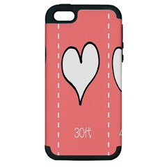 Love Heart Valentine Pink White Sexy Apple Iphone 5 Hardshell Case (pc+silicone)