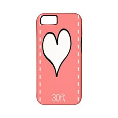 Love Heart Valentine Pink White Sexy Apple Iphone 5 Classic Hardshell Case (pc+silicone)