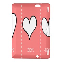 Love Heart Valentine Pink White Sexy Kindle Fire Hdx 8 9  Hardshell Case