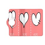 Love Heart Valentine Pink White Sexy Kindle Fire HD (2013) Flip 360 Case Front