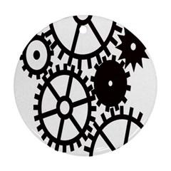 Machine Iron Maintenance Ornament (round)
