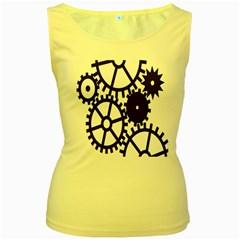Machine Iron Maintenance Women s Yellow Tank Top