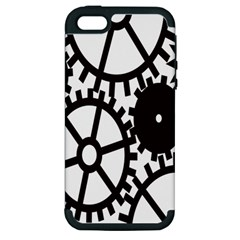 Machine Iron Maintenance Apple Iphone 5 Hardshell Case (pc+silicone)