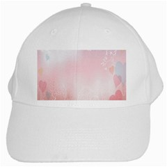 Love Heart Pink Valentine Flower Leaf White Cap