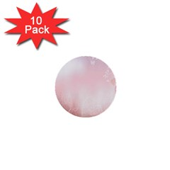 Love Heart Pink Valentine Flower Leaf 1  Mini Buttons (10 Pack)