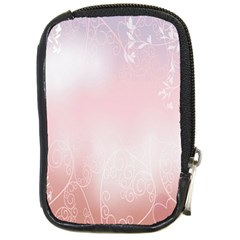 Love Heart Pink Valentine Flower Leaf Compact Camera Cases