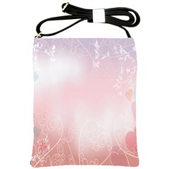 Love Heart Pink Valentine Flower Leaf Shoulder Sling Bags