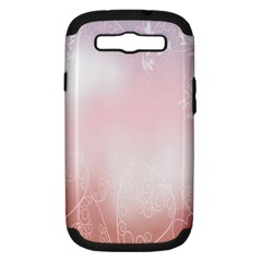 Love Heart Pink Valentine Flower Leaf Samsung Galaxy S Iii Hardshell Case (pc+silicone)