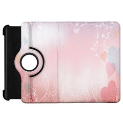 Love Heart Pink Valentine Flower Leaf Kindle Fire Hd 7