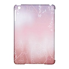 Love Heart Pink Valentine Flower Leaf Apple Ipad Mini Hardshell Case (compatible With Smart Cover)