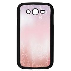 Love Heart Pink Valentine Flower Leaf Samsung Galaxy Grand Duos I9082 Case (black)