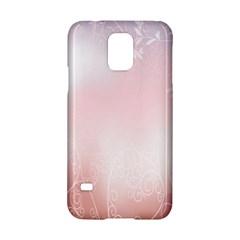 Love Heart Pink Valentine Flower Leaf Samsung Galaxy S5 Hardshell Case