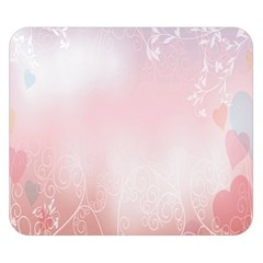 Love Heart Pink Valentine Flower Leaf Double Sided Flano Blanket (small)