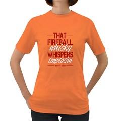 Fireball Whiskey Humor  Women s Dark T Shirt