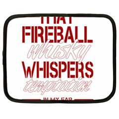 Fireball Whiskey Humor  Netbook Case (large)