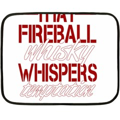 Fireball Whiskey Humor  Fleece Blanket (mini)