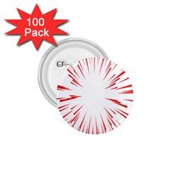 Line Red Sun Arrow 1 75  Buttons (100 Pack)