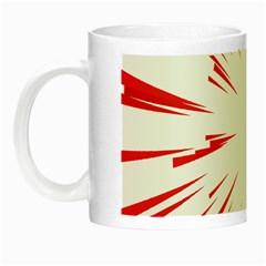 Line Red Sun Arrow Night Luminous Mugs